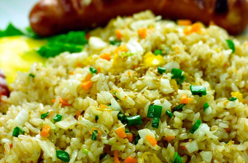 Pineapple Fried Rice « Welcome to Bhavna's Vegetarian Kitchen!